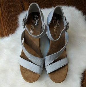 Toms • Gray Wedge Sabdal [Shoes]